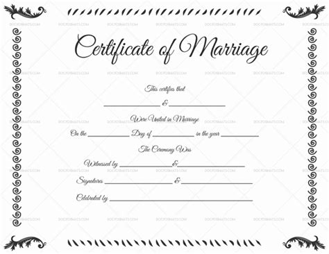 Marriage Certificate Template 22 Editable For Word Pdf Format Marriage Certificate Template Microsoft Word