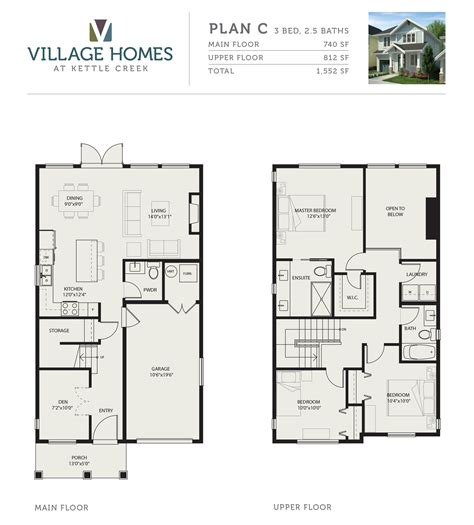 blueprint home design 4 floor plans starting 379k from village homes langford