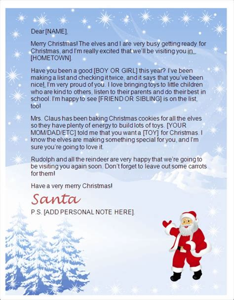 santa letter template word 25 best ideas about letter from santa template on