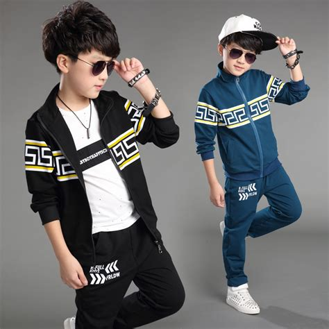 new year clothes for boy 2015 children clothing set boy autumn sports suit