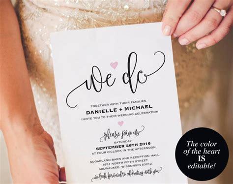 wedding invitation pdf template we do wedding invitation template wedding