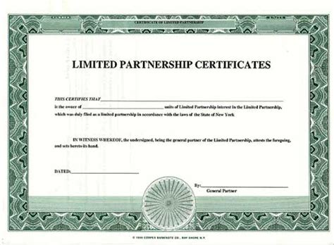 certificate of partnership template 28 images image