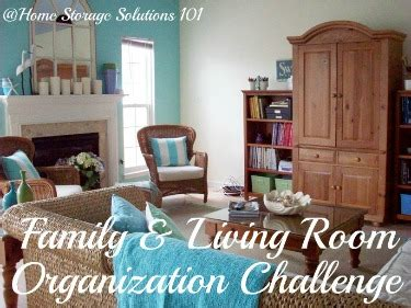 organizing living room organizing living room family room challenge