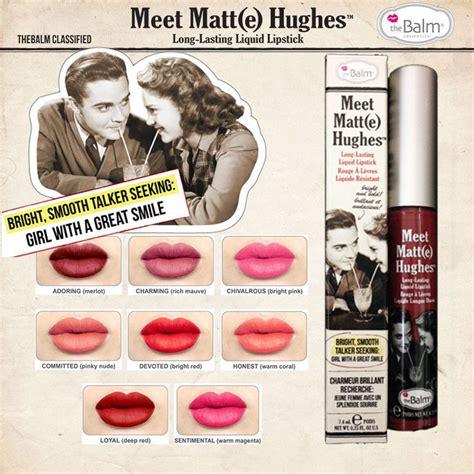 The Balm Meet Matt E Hughes 12 In 1 Matte Liquid Lipstick the balm meet matt e hughes sentimental ebay