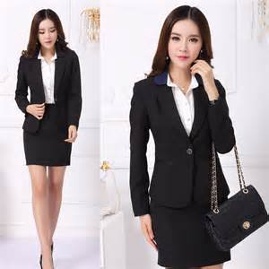 formal office uniform designs women skirt suits blazer