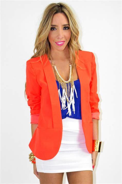 Blazer Orange bright orange neon blazer