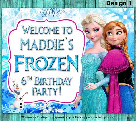 frozen printable welcome frozen sign frozen birthday sign frozen welcome sign frozen