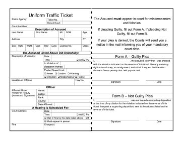 Hilarys Kindness Gets Out Of Traffic Ticket by Parking Ticket Printable Free The Best