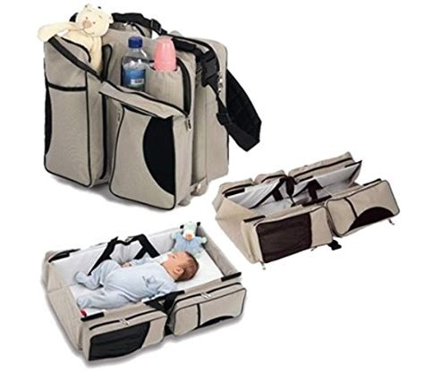 Diaper Bag Travel Bassinet Changing Station 3 In 1 Changing Table Bag