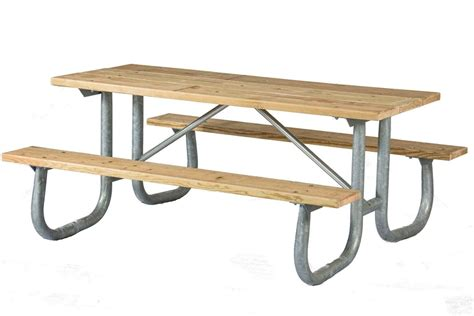 6 wood table 6 ft wooden picnic table with heavy duty welded