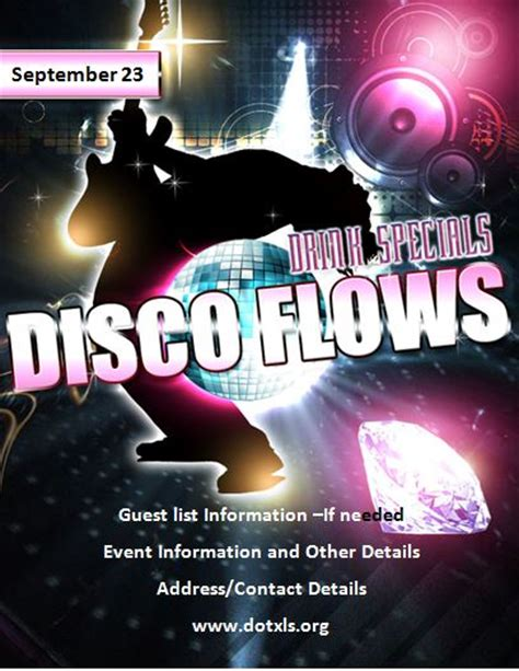 template flyer disco party ms word disco party flyer template word excel templates