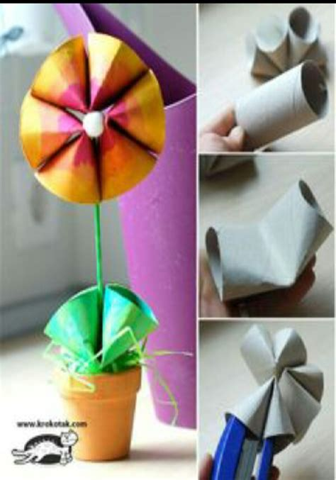 Home Decor From Recycled Materials Flower Made From Recycled Materials Musely