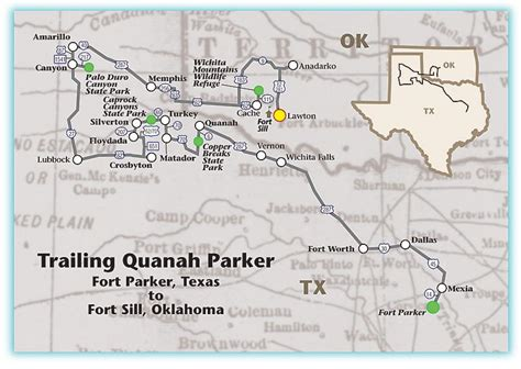 quanah texas map following the trail of quanah true west magazine