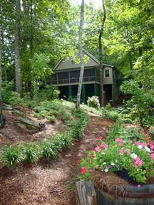 Landscape Ideas Near Lake Lake Cabin Outdoors Landscape Ideas Cabin Exterior