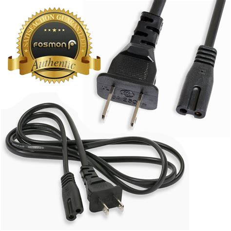 one power cord fosmon for xbox one s 5ft pa 14 2 slot prong power cord