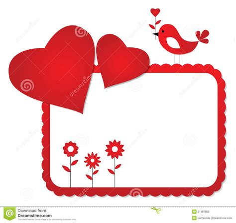 valentines picture frames s day frame stock vector illustration of