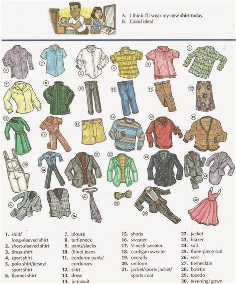 pattern of clothes in english men s and women s clothes vocabulary and fashion list