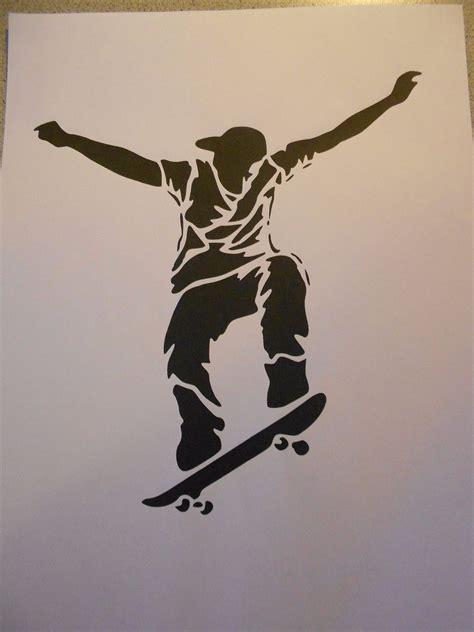 schablone skateboarder auf   sale eur