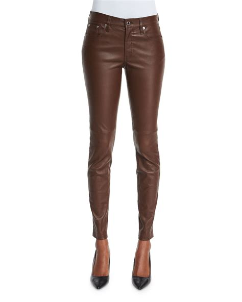leather pants ralph lauren black label stretch leather skinny pants in