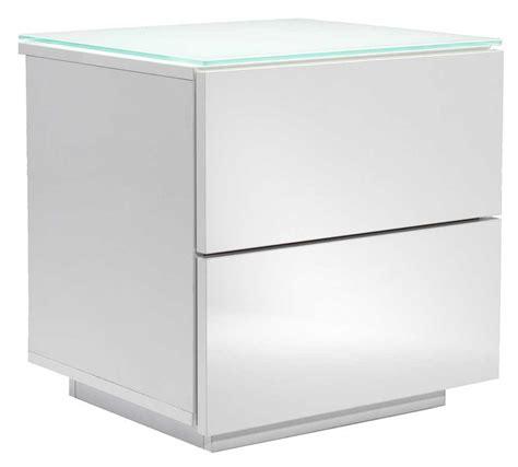 Oslo High Gloss White Drawer Unit