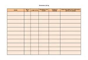 call log template 11 free word excel pdf documents