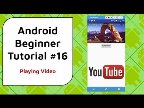 android tutorial youtube video android beginner tutorial 16 play youtube videos using
