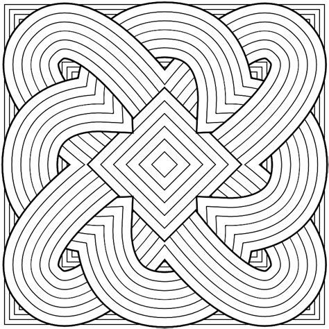Free Coloring Pages Of Difficult Patterns Coloring Pages Pattern