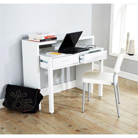 Console Table Computer Desk Regis Extending Console Table Computer Table Study Desk Retractable Shelf White Ebay