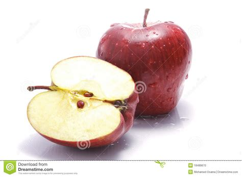 How To Cut Open A A Cut Open Apple Stock Photo Image 18489670