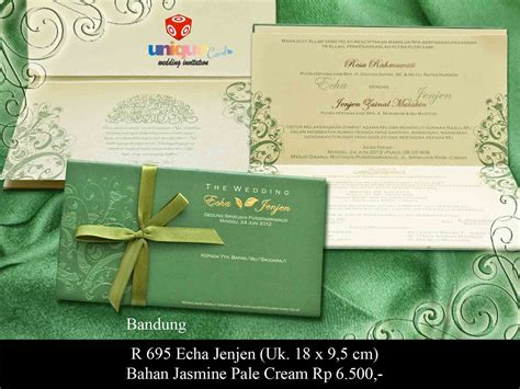 Undangan Pernikahan Kartu Wedding Invitation Card Kode Flo05 undangan pernikahan hardcover echa jenjen