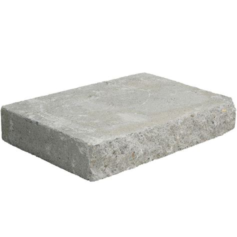 Concrete Wall Caps - pavestone 2 in x 12 in x 8 in pewter concrete wall cap