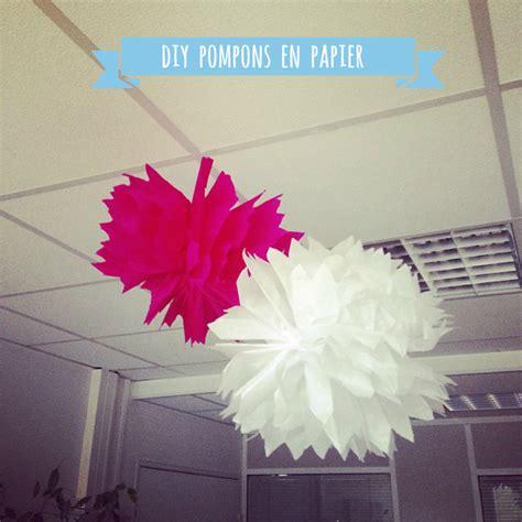 Faire Des Pompons En Papier by Tuto Pompon En Papier De Soie