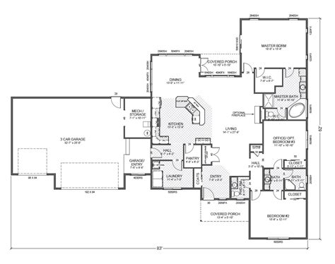 rambler floor plans rambler house plans traditional rambler home plan