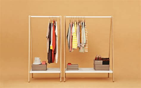 toj clothes rack stylish wardrobe furniture in grey