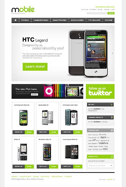 themes mobile store creative theme preview white mobile store magento theme