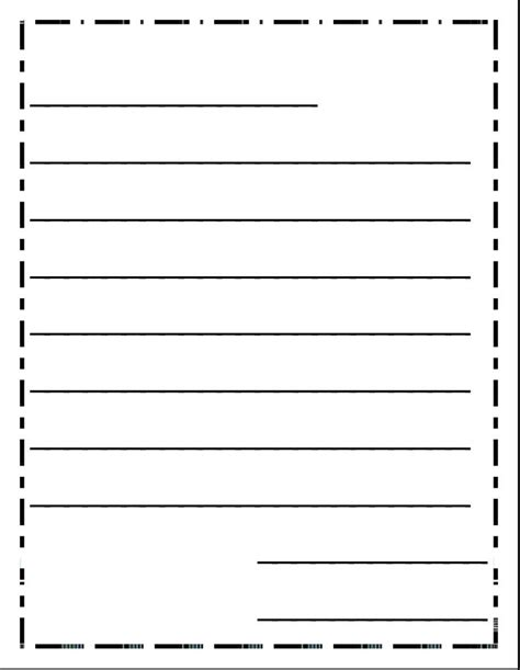 letter writing template for grade free letter writing paper for grade handwriting