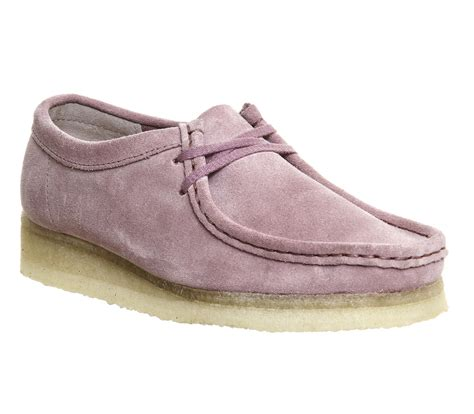 Clarks Boot Pink clarks wallabee suede ankle boots in pink lyst