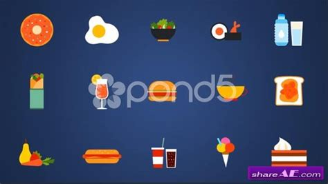 54 Animated Icons With Food Only Shapes After Effects Templates Pond5 187 Free After Effects Bell Icon Intro Template After Effects
