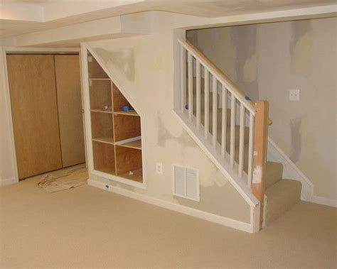 under the stairs storage traditional basement small