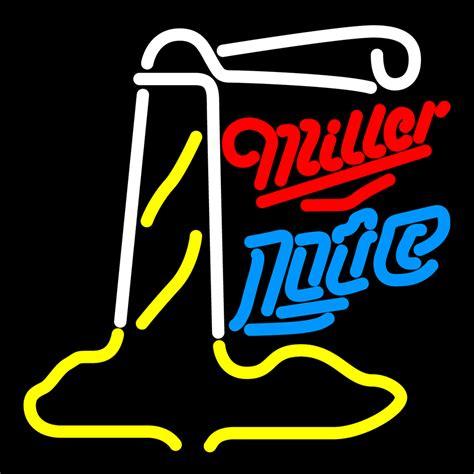miller light neon sign miller lite lighthouse neon sign neon