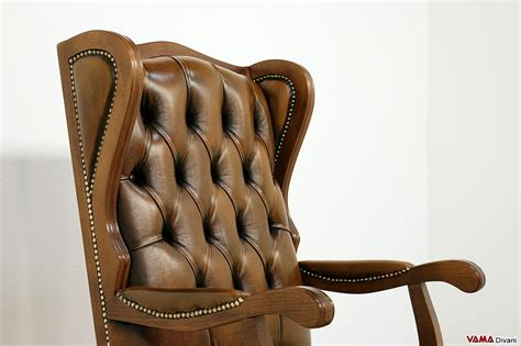poltrona in pelle poltrona da ufficio classica in vera pelle di design vintage