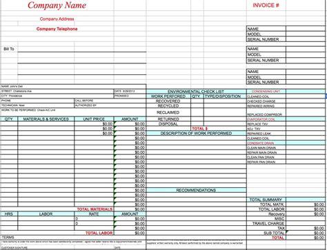 hvac invoices templates free hvac invoice template excel pdf word doc hvac invoice