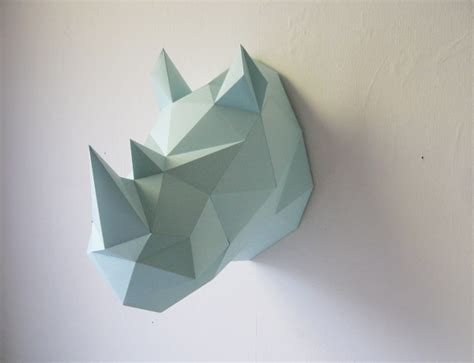 Rhinoceros Origami - animal friendly rhino diy kit assembli