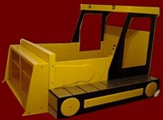 Bulldozer Bed Frame Digger Bed On Pinterest 3 4 Beds Kid Beds And Deere Tractors