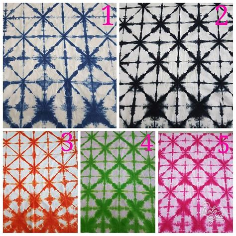 Tunik Shibori kain jumputan shibori motif garis kotak batik pekalongan by jesko batik