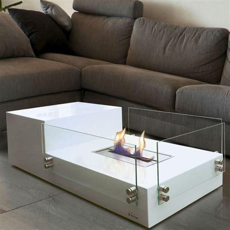 table basse avec foyer ethanol ezooq