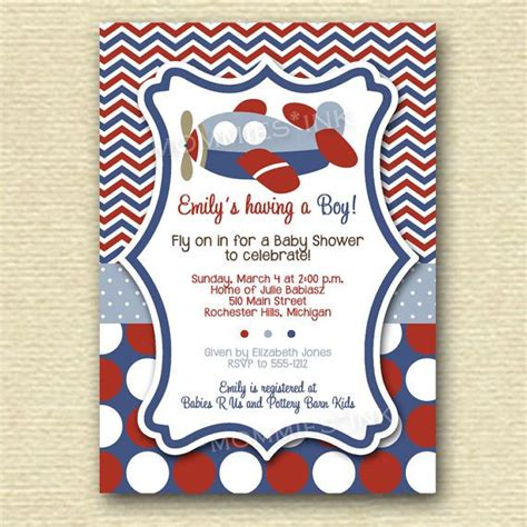 Airplane Baby Shower Invitations by Airplane Baby Shower Invitations Theruntime