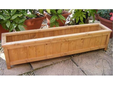 Wooden Garden Planters Ideas Handmade Wooden Garden Planter Windowbox Trough Garden More Wooden Garden