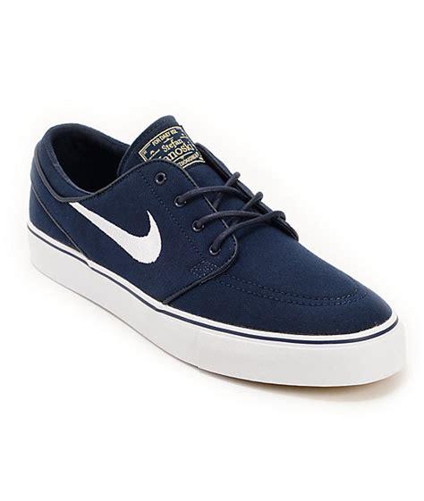 Nike Sb Stefan Janoski Canvas Navywhite nike sb zoom stefan janoski obsidian white light brown canvas shoes