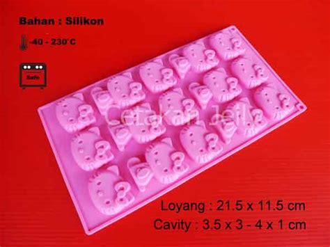 Cetakan Coklat Hellokitty Second cetakan silikon coklat puding hello 15 cav cetakan jelly cetakan jelly